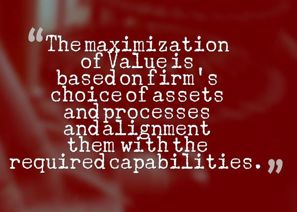 Maximization Value Principle