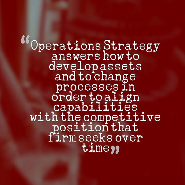 Operations Strategy term definition